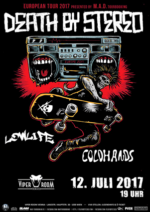 ACHTUNG!! Abgesagt, neuer Termin folgt!! Live: DEATH BY STEREO, LOWLIFE, COLDHANDS