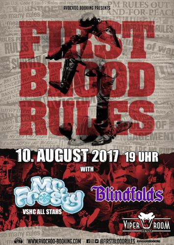 Live: FIRST BLOOD, MR. FROSTY, BLINDFOLDS