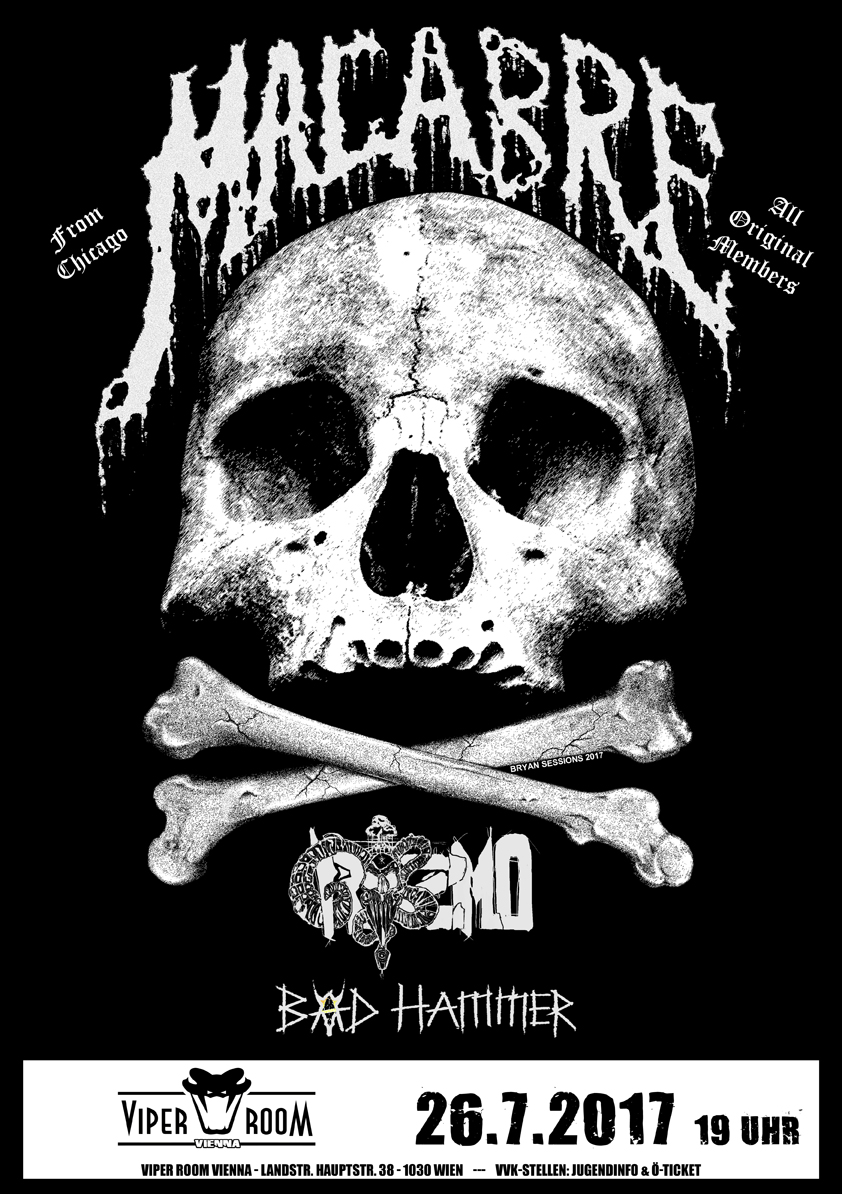 Live: MACABRE, GRISZMO, BÄD HAMMER