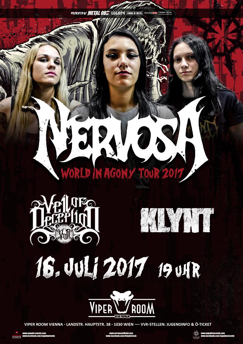Live: NERVOSA, VEIL OF DECEPTION, KLYNT