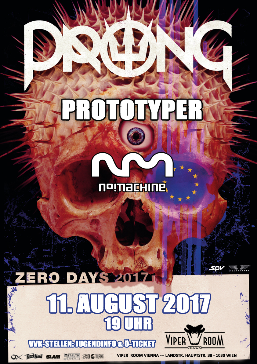 Live: PRONG, PROTOTYPER, NO MACHINE