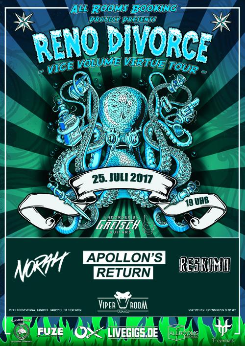 Live: RENO DIVORCE, NORAH, APOLLON'S RETURN, RESKIMO