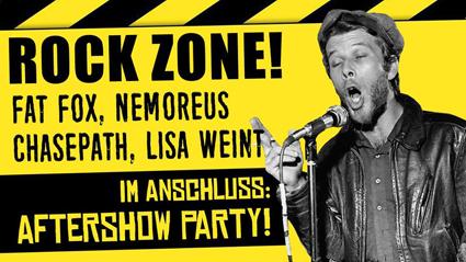 Live: ROCK ZONE! mit FAT FOX, NEMOREUS, CHASEPATH, LISA WEINT