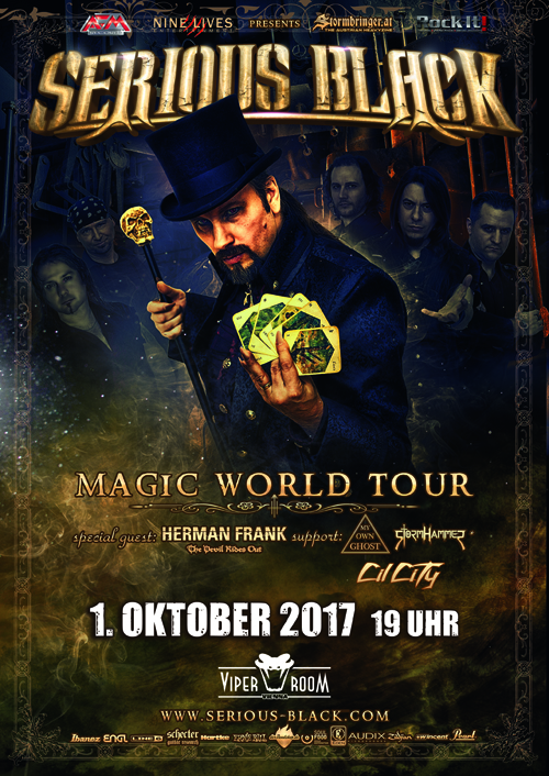 Live: SERIOUS BLACK with Special Guest: Herman Frank (Ex-Accept), MY OWN GHOST, STORMHAMMER, CIL CITY