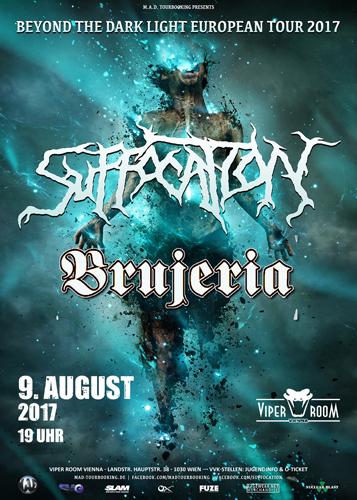 Live: SUFFOCATON, BRUJERIA