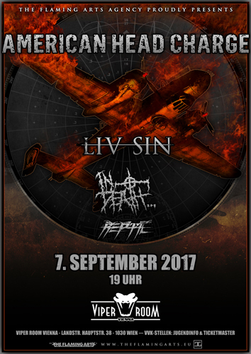 Live: AMERICAN HEAD CHARGE, LIV SIN, IN DEATH, REPTIL