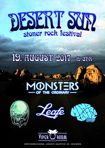 Live: DESERT SUN mit MONSTERS OF THE ORDINARY, LIQUID EARTH, LEAFE, MIND CONTROL