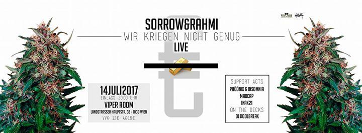 Live: SORROW & RAHMI Realeaseparty - Wir kriegen nicht genug