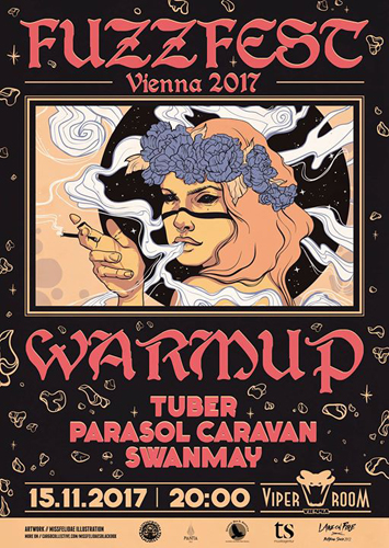 Live: FUZZFEST WARM UP - TUBER, PARASOL CARAVAN, SWANMAY