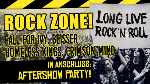 Live: ROCK ZONE! - FALL FOR IVY, BEISSER, HOMELESS KINGS, CRIMSON MIND