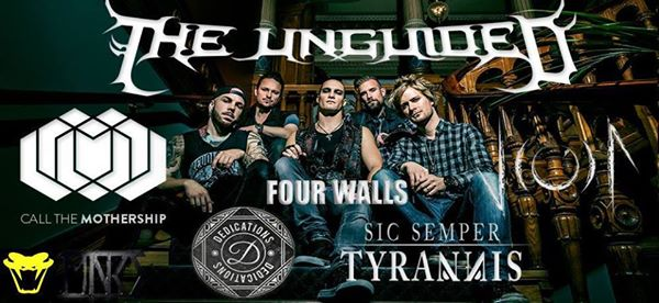 Live: THE UNGUIDED, CALL THE MOTHERSHIP, JIODA, SIC SEMPER TYRANNIS, DEDICATIONS, FOUR WALLS