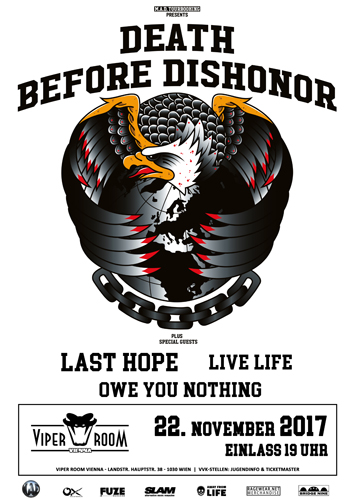 Live: DEATH BEFORE DISHONOR, LAST HOPE, LIVE LIFE, OWE YOU NOTHING