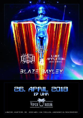 Live: BLAZE BAYLEY, LUKE APPLETON, VEIL OF DECEPTION, BULLETRIDE