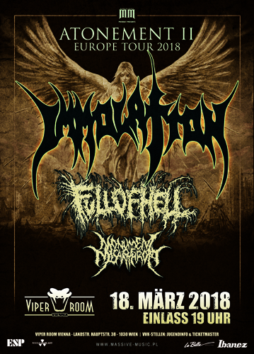 Live: IMMOLATION, FULL OF HELL, MONUMENT OF MISANTHROPY, OMOPHAGIA