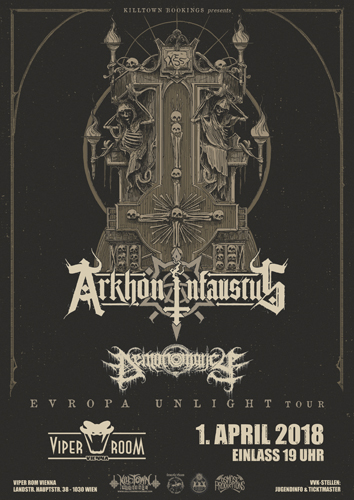 Live: ARKHON INFAUSTUS, DEMONOMANCY, 0N0