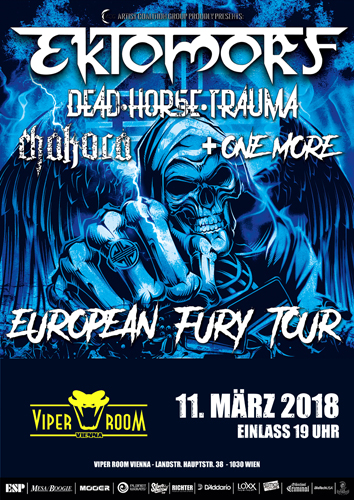 Live: EKTOMORF, DEAD HORSE TRAUMA, CHAKORA, THE LEGION:GHOST