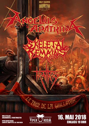 Live: ANGELUS APATRIDA, SKELETAL REMAINS, TRALLERY