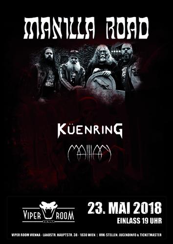 Live: MANILLA ROAD, KÜENRING, MATHAN