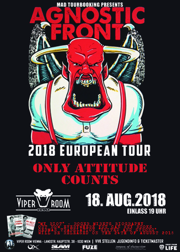 Live: AGNOSTIC FRONT, ONLY ATTITUDE COUNTS, UNSEEN REMAINS