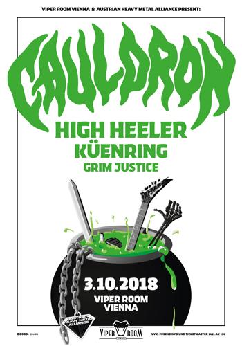 Live: CAULDRON, HIGH HEELER, KÜENRING, GRIM JUSTICE