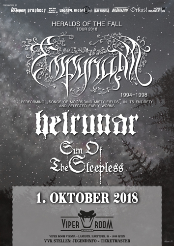 Live: EMPYRIUM, HELRUNAR, SUN OF THE SLEEPLESS