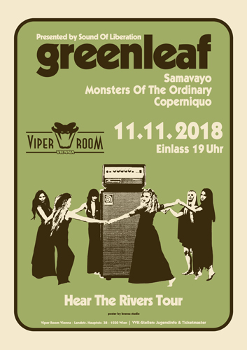 Live: GREENLEAF, SAMAVAYO, COPERNIQUO