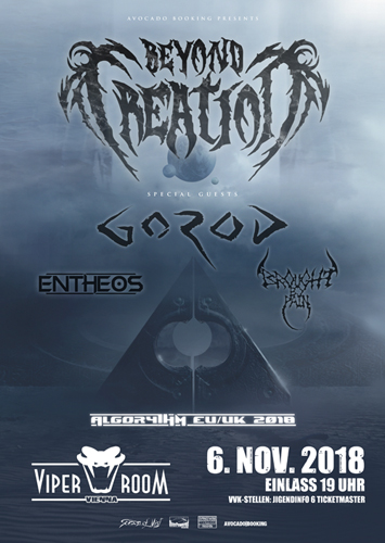 Live: BEYOND CREATION, GOROD, ENTHEOS, BROUGHT BY PAIN