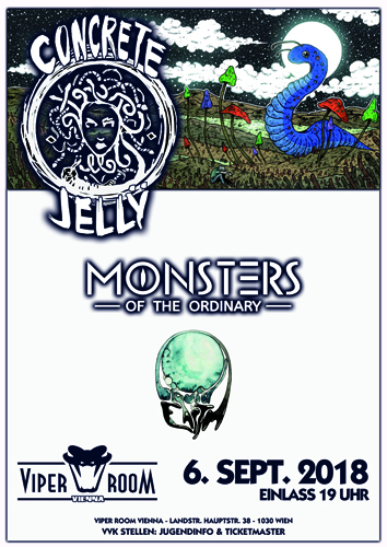 Live: CONCRETE JELLY, MONSTERS OF THE ORDINARY, LIQUID EARTH