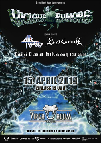 Live: VICIOUS RUMORS, AIR RAID, MAGISTARIUM