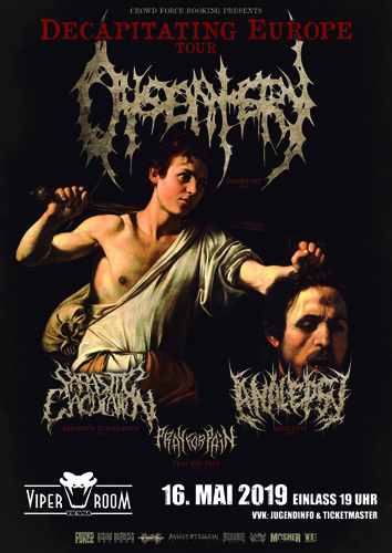 Live: DYSENTERY, PARASITIC EJACULATION, ANALEPSY,  PRAY FOR PAIN