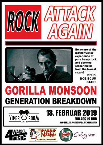 Live: GORILLA MONSOON, GENERATION BREAKDOWN, LIQUID EARTH