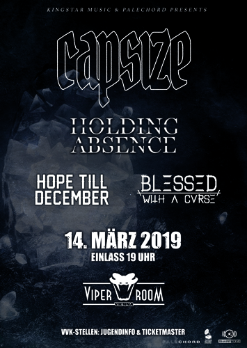 Live: CAPSIZE, HOLDING ABSENCE, HOPE TILL DECEMBER and more