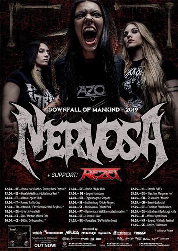 Live: NERVOSA, REZET
