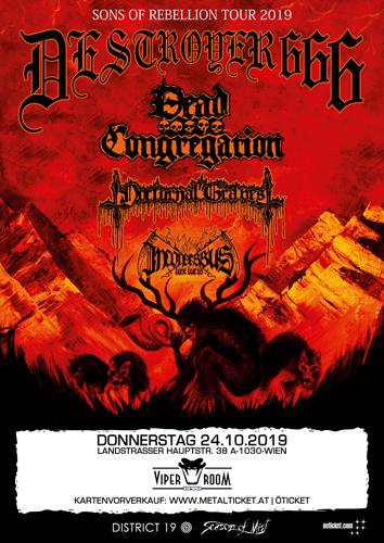 Live: DESTROYER 666, DEAD CONGREGATION, NOCTURNAL GRAVES