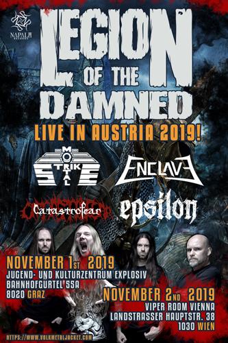 Live: LEGION OF THE DAMNED, MORTAL STRIKE, ENCLAVE, EPSILON, CATASTROFEAR