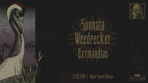 Live: SUNNATA, WEEDPECKER, OZYMANDIAS