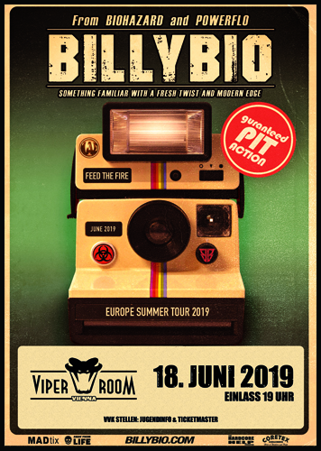 Live: BILLYBIO (Biohazard), CHASING SOUNDS, BÄD HAMMER, RESTARE