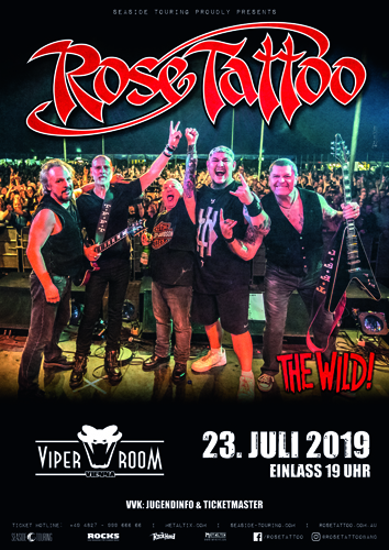SOLD OUT!!! ROSE TATTOO, THE WILD