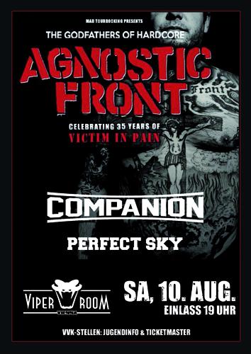 Live: AGNOSTIC FRONT, COMPANION, PERFECT SKY