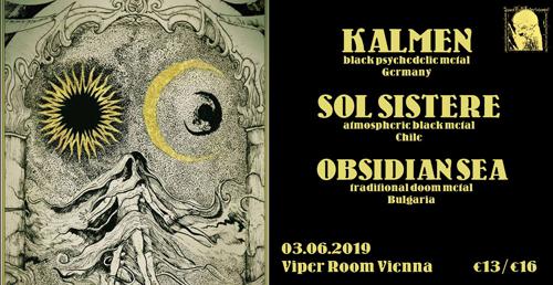Live: KALMEN, SOL SISTERE, OBSIDIAN SEA