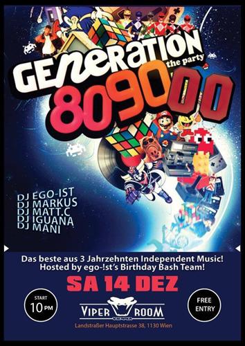 GENERATION 80s-90s-00