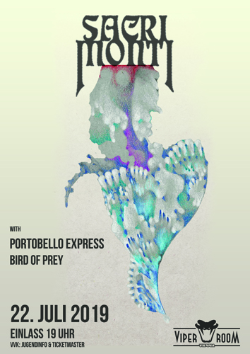Live: SACRI MONTI, PORTOBELLO EXPRESS, BIRD OF PREY