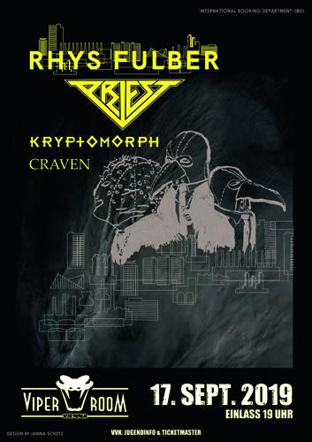Live: PRIEST, RHYS FULBER, CRAVEN, KRYPTOMORPH