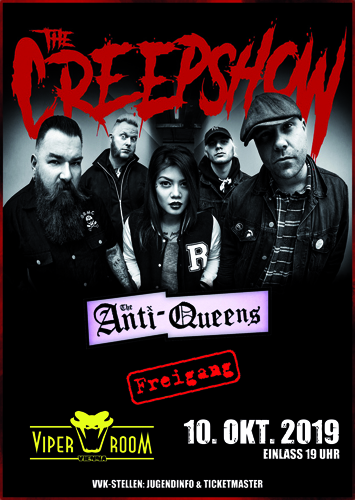 Live: THE CREEPSHOW, THE ANTI-QUEENS, FREIGANG