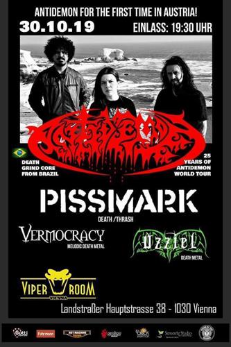 Live: ANTIDEMON, PISSMARK, VERMOCRACY