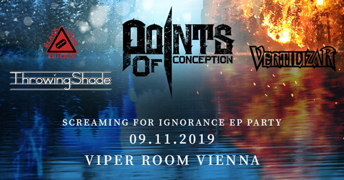 Live: POINTS OF CONCEPTION, VERTILIZAR, BLACK TAPE SUICIDE, THROWING SHADE,