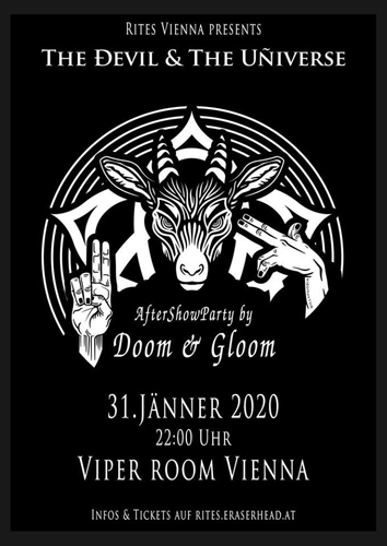 Live: THE DEVIL & THE UNIVERSE + DOOM AND GLOOM Aftershow Party