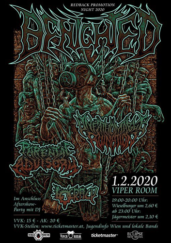 Live: BENIGHTED, UNFATHOMABLE RUINATION, PARENTAL ADVISORY, VOID CREATION