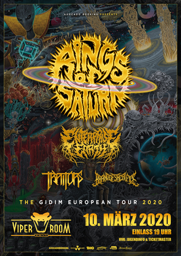 Live: RINGS OF SATURN, ENTERPRISE EARTH, TRAITORS, BRAND OF SACRIFICE