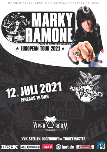 VERSCHOBEN 12.7.2021!! MARKY RAMONE and Supports